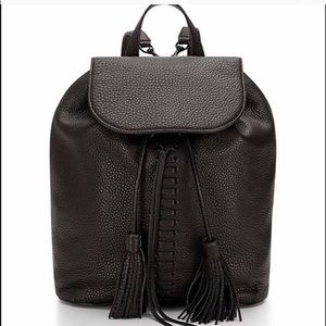 Rebecca Minkoff black leather Moto backpack